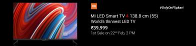 Trick to Buy Mi LED Smart TV 4 from Flipkart Flash Sale
