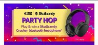 (All answers)Amazon Party hop Contest – Play and Win Skullcandy Crusher Headphones
