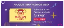 (All Answers)Amazon App Treasure Hunt 10th Oct – Solve Clues & Win Fashion Product