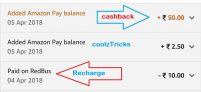 (Proof Added)Amazon Redbus Offer – Recharge Of Rs 10 & Get Rs 50 on Amazon Pay balance