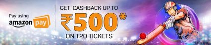 IPL Match Ticket Booking Offer – Get up to Rs.1000 Cashback from Bookmyshow on IPL T20 2018