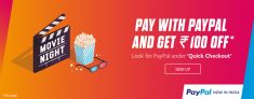 Paypal Bookmyshow Offer – Pay with Paypal and Get Rs.100 Off