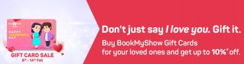 Get up to 10% Off on BookMyShow Gift Cards