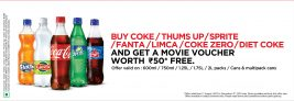 Free Movie Voucher – Buy Coke and Get Rs.50 Movie Voucher Free