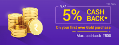 PhonePe Gold Offer – Get 5% Cashback on First Gold Purchase