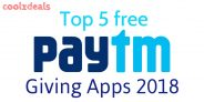 (April)Top 5 Instant Free Paytm Cash Giving Apps in 2018
