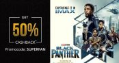 Black Panther Movie Offer – Get 50% Cashback up to Rs.500 in Online Paytm Booking