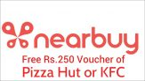Nearbuy Free Coupons – Get 100% Cashback up to Rs.250 on KFC & Pizza Hut Vouchers
